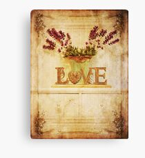 Vintage Love.... Canvas Print