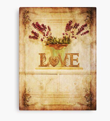 Vintage Love.... Canvas Print