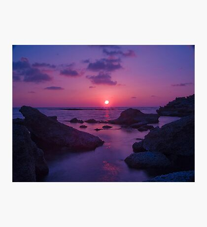 A Cypriot Sunset Photographic Print