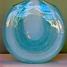 Blue Glass Vase by Ali Brown