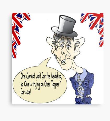 Funny Prince Charles Royal Wedding Cartoon. Metal Print