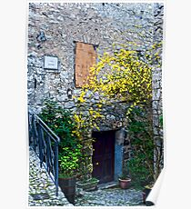 Flowered Entrance in Fumone Italy. Poster