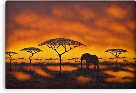 Serengetti Solitude by Shirley Shelton