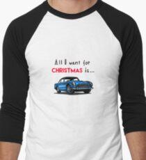Aston Martin blue Baseball ¾ Sleeve T-Shirt