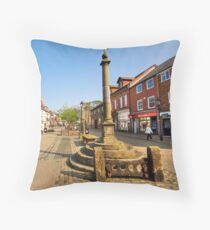 The Market Place Poulton Le Fylde Throw Pillow