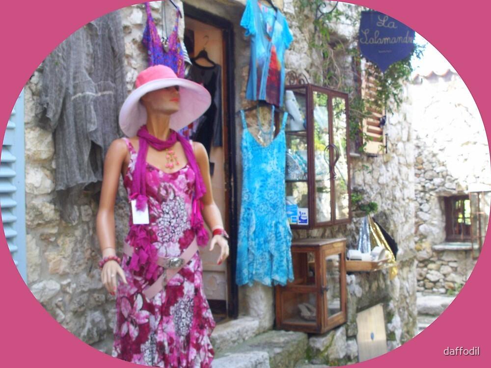 Stylish summer dresses in a village by daffodil
