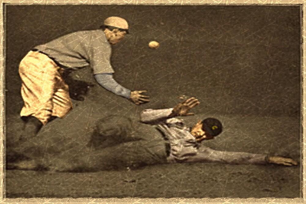 Vintage Style Baseball Memorabilia by Geezon