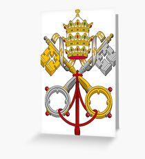 Armoiries papales croisées Carte de vœux