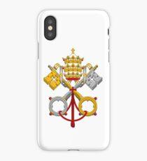 Papal Coat of Arms crossed keys iPhone Case/Skin