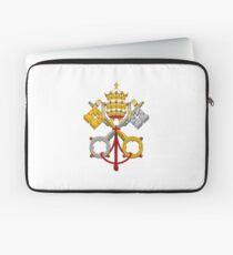 Armoiries papales croisées Housse de laptop