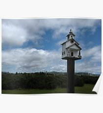 """""""BIRDHOUSE OF WORSHIP - Old Mission Style"""" Poster"""