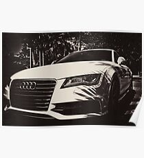 Front of an AUDI Poster