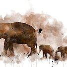 Elefant und Baby von Marlene Watson