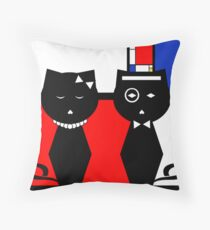 Composition in Red, Blue, and Yellow Throw Pillow
