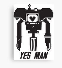 YES MAN: PIXEL VECTOR Canvas Print