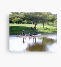 Makoro on Okavango River, Botswana, Africa Metal Print