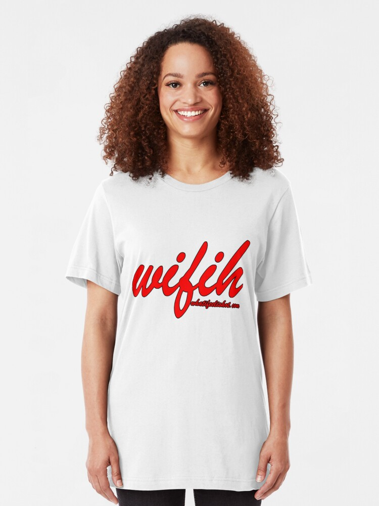 Alternate view of WIFIH 'Plain and Simple' Red Slim Fit T-Shirt