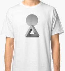 Think, reflection logo | 3D optical illusion | Omolog Classic T-Shirt