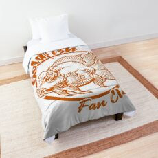 Goldfish Fan Club Cute Goldfish Fish Keeper Orange Print Comforter
