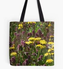 Tiny suns on a field of purple Tote Bag