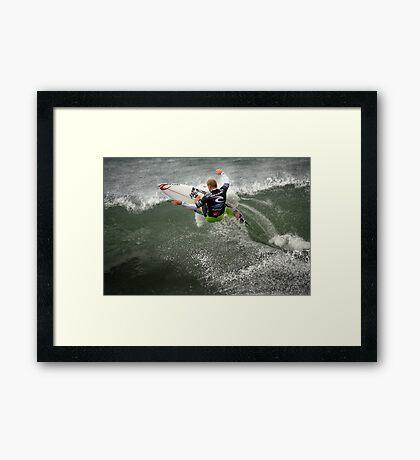 Mick Fanning ~ Bells Beach 2011 Framed Print