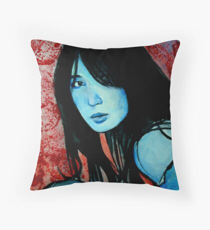 The Serious Moonlight  Throw Pillow