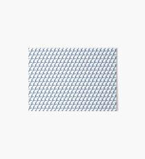 Blue Angled Striped Pattern Art Board Print