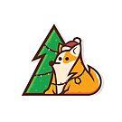 Christmas Corgi by Ashley Loonam