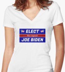 Elect (then impeach) Joe Biden Fitted V-Neck T-Shirt