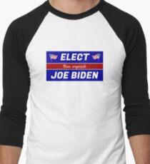 Elect (then impeach) Joe Biden Baseball ¾ Sleeve T-Shirt