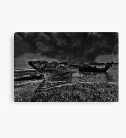 Storm Over The Wrecks Canvas Print