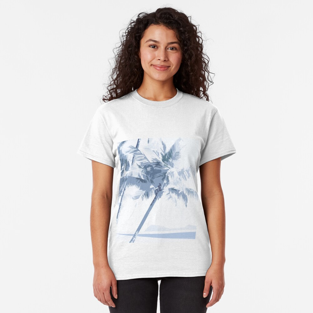 Palm Cove Graphic Art Square 1 Classic T-Shirt