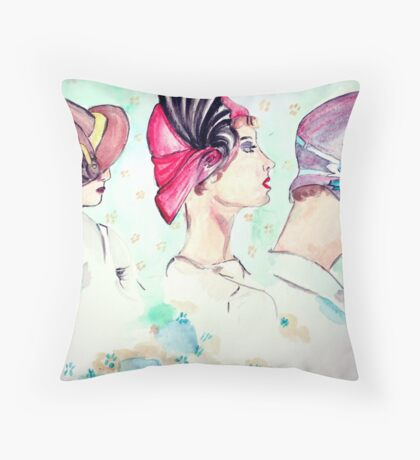 back thoughts Throw Pillow