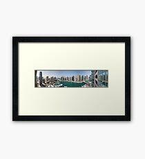 Dubai Marina Panorama Framed Print