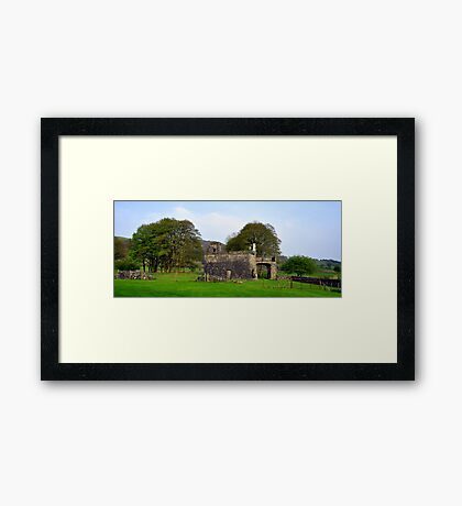 Out Building at fore abbey. Framed Print