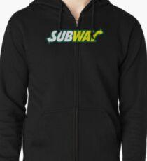 Subway Fast Food Restaurant Logo Zipped Hoodie