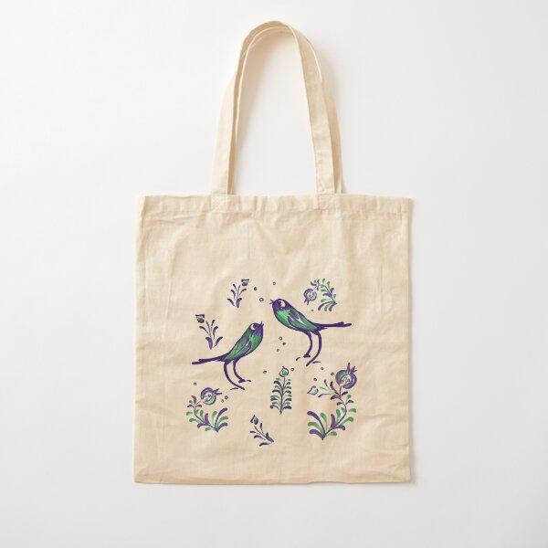 Granada  · Loving Birds Warbling Happiness · Grenada Albayzin Style Cotton Tote Bag