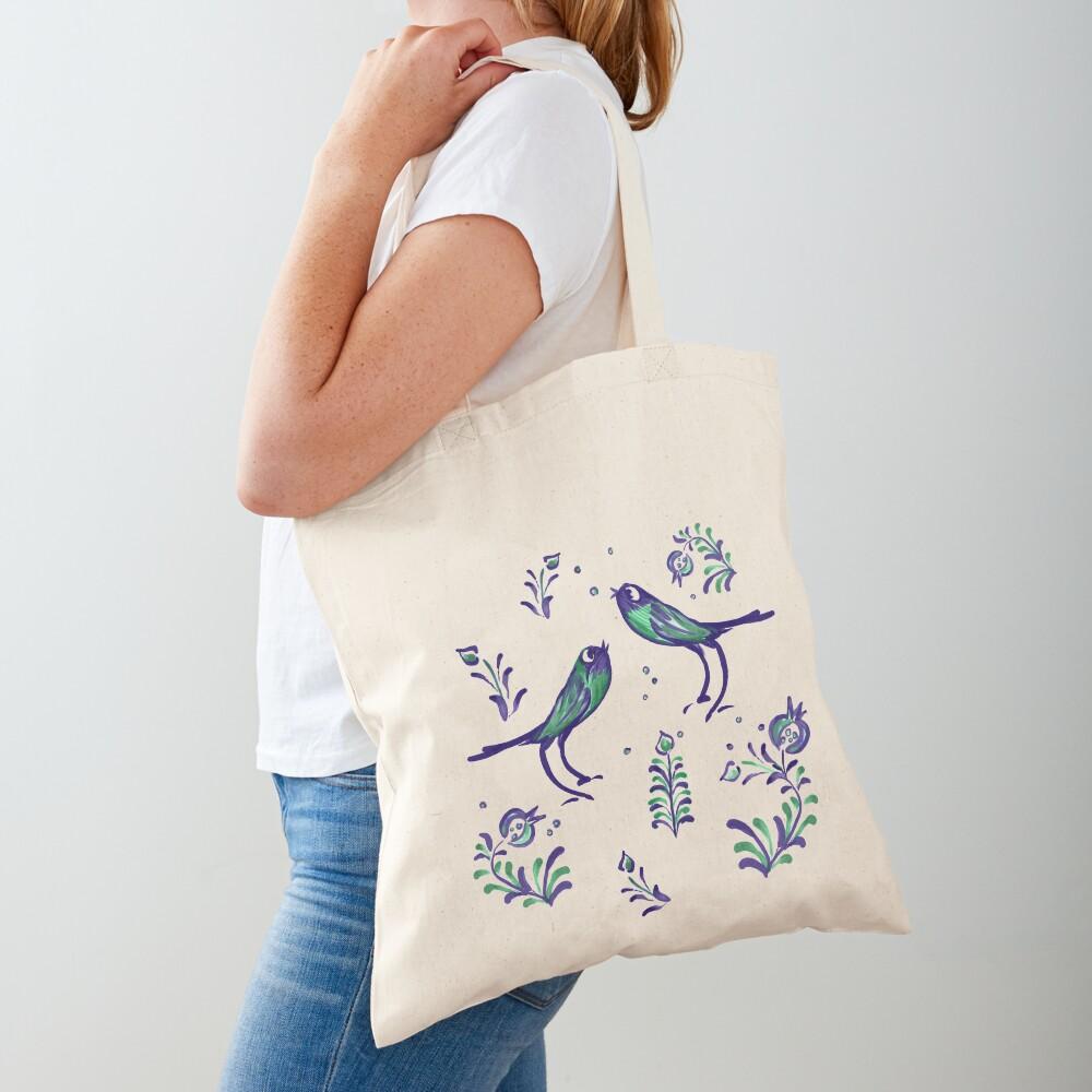 Granada  · Loving Birds Warbling Happiness · Grenada Albayzin Style Tote Bag
