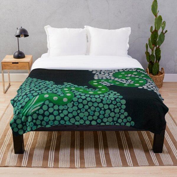 Green serpent Throw Blanket