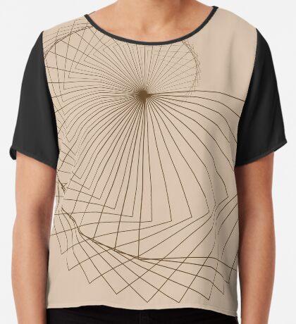 Geometric Spiral 001 Chiffon Top
