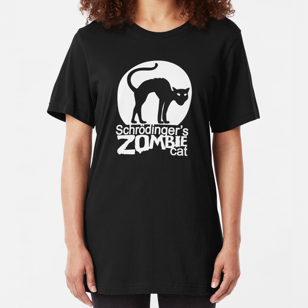 Schrodinger's Zombie Cat Slim Fit T-Shirt