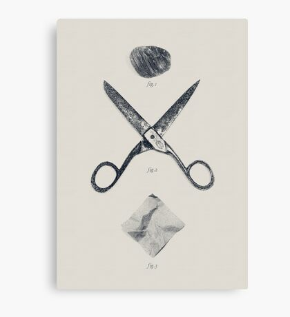 ROCK / SCISSORS / PAPER Canvas Print