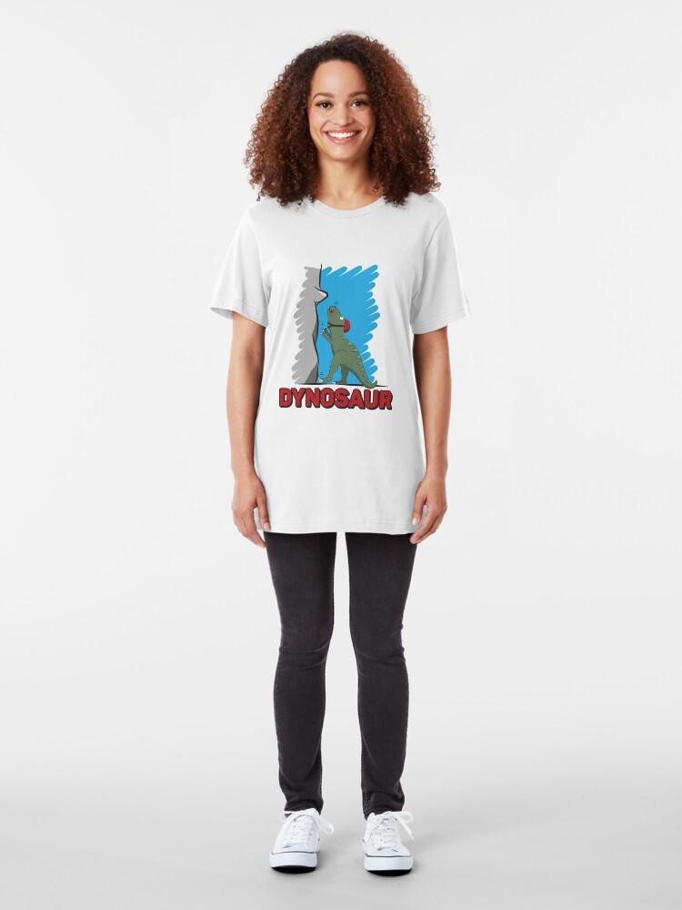 Alternative Ansicht von Dynosaur - Climbing & Boulder Slim Fit T-Shirt
