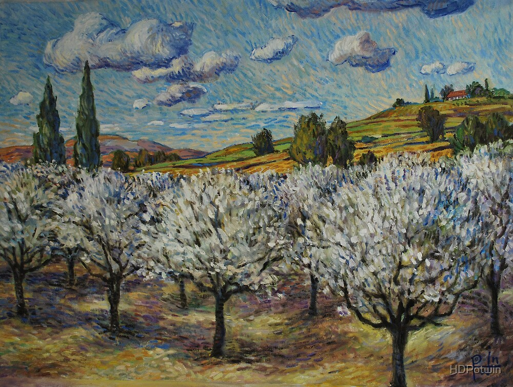 Orchard with White Blossoms by HDPotwin