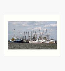 Chincoteaque Fishing Vessels Art Print