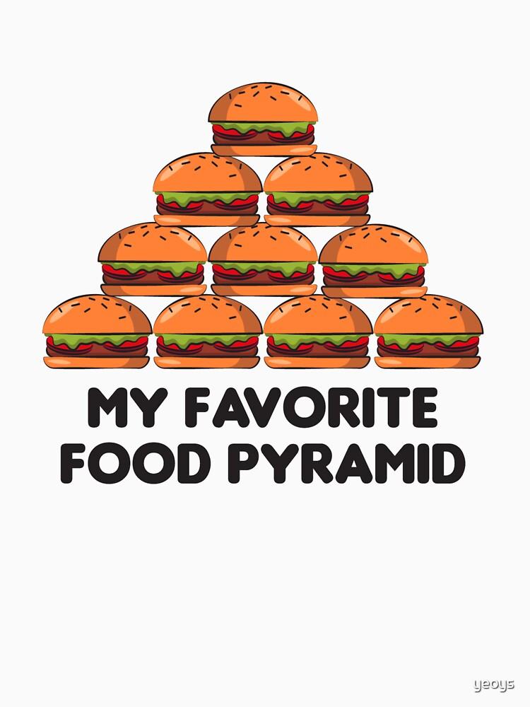 Love Burger - My Favorit Food Pyramid von yeoys