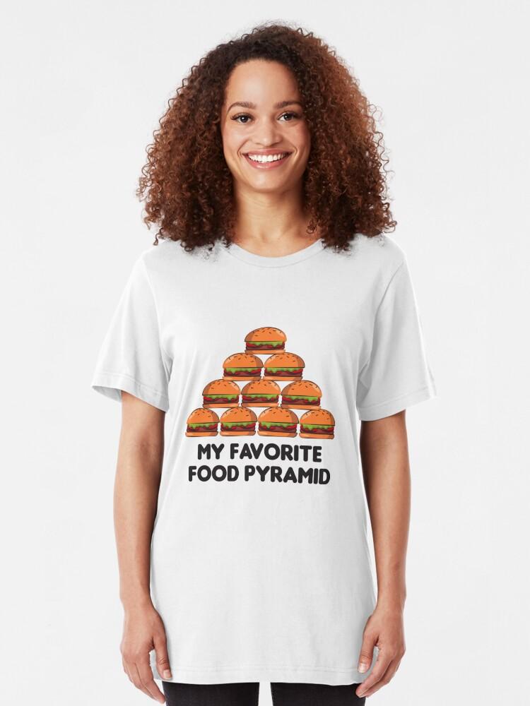 Alternative Ansicht von Love Burger - My Favorit Food Pyramid Slim Fit T-Shirt