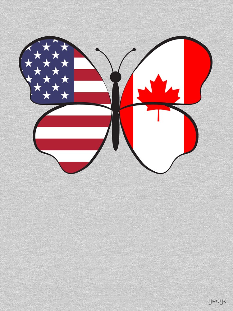 USA Canada Butterfly - Dual Citizenship von yeoys