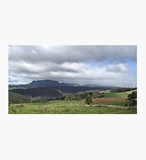 April rain shower on the hills at Wilmot Photographic Print