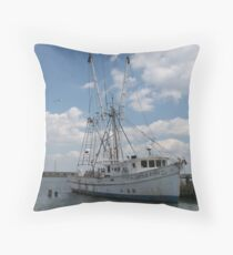 Chincoteaque Fishing Vessels-1 Throw Pillow